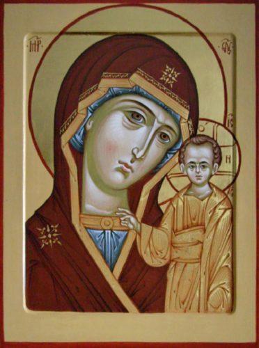 Икона. Образ Богородицы «Казанская», написана мастерами иконописной мастерской «ТИП-Икон».