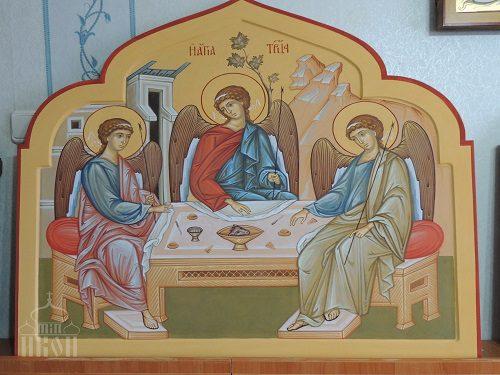Иконы праотеческого ряда в иконостас придела Трех Святителей, Свято-Покровского храма, г. Камышлов